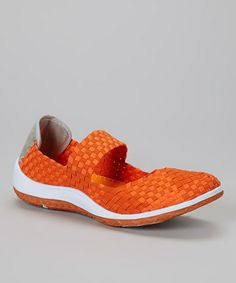 Take a look at this Orange Woven Sammi Shoe by CC Resorts on #zulily today! $25 !!