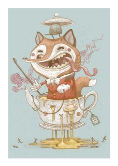 DULK   Studio   Fox hunting print. Valencia 2013.