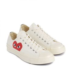 7baa47259 Play Comme des Garçons Converse Red Heart Chuck Taylor All Star  70 Low ( White)
