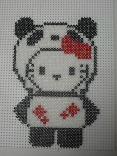 Hello Kitty panda hama beads Bügelperlen by marylene