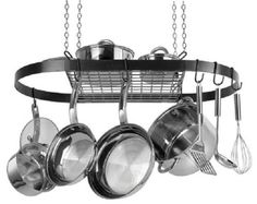 Pot y Pan Organizador Colgante Ollas Bandejas Tapas utensilios de cocina del sostenedor del estante Cocina Comedor