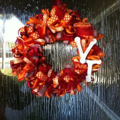 Hokie wreath! I need one of these for my front door!