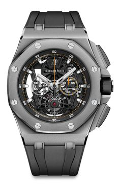 Audemars Piguet: Royal Oak Offshore Tourbillon Chronograph in der Titanversion Rolex Watches For Men, Fine Watches, Luxury Watches For Men, Cool Watches, Latest Watches, Popular Watches, Elegant Watches, Casual Watches, Beautiful Watches