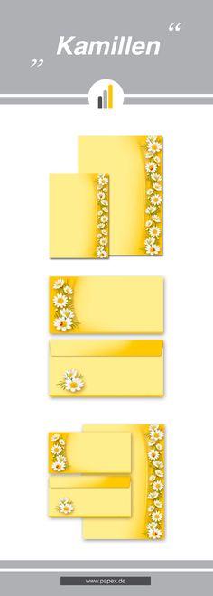 Briefpapier / Motivpapier KAMILLEN - Sagen Sie es »durch die Blume« mit unseren variantenreichen Blütenmotiven oder Designs aus vielen anderen Themenbereichen, um einem persönlichen Schreiben den richtigen Rahmen zu verleihen. Das Verwenden Sie unsere Produkte als Werbewirksame Zielgruppenmailings, Weihnachtsgrüße, für Angebote, als Saison-Briefpapier, für Einladungen, Glückwünsche, Speisekarteneinlagen, Aktionsprogramme, Feste, als Aushang im Schaufenster und für weitere tausend Anlässe.