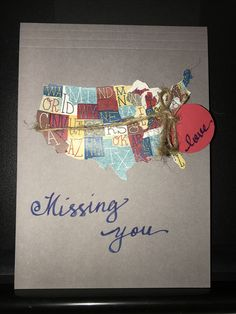 Missing you. LDR card