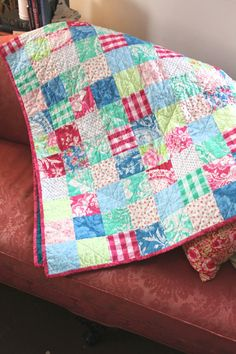 Tea Cakes Patchwork Quilt by KStrawberryShop on Etsy, $150.00