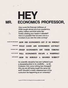 Hey Mr. Economics Professor!