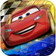 "Cars Grand Prix Dream Party Disney Kids Birthday Party 9/"" Square Dinner Plates"