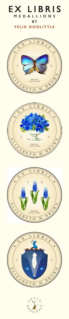 Ex Libris Medallions by Felix Doolittle. Great gift for the book lover in your life! #greatgifts #books