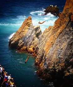 "Acapulco, Mexico - I am not a huge fan of ""Pacific Side"" Mexico but I loved the Cliff Divers on our trip here in 1995. We stayed at the classic Fairmont Princess."