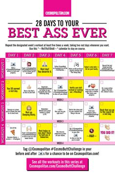 Here's How to Get Your Best Butt Ever in 28 Days - Cosmopolitan.com