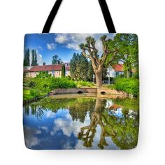 Tote Bags - Colorful Reflections Tote Bag by Nadia Sanowar