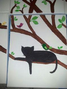 Cat and bird theme nursery
