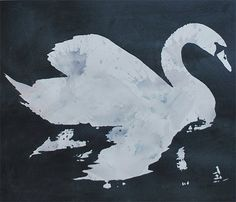 art work #giveaway from @Christine   Swan  Metallic Grey by VivianandBeverly on Etsy, $60.00