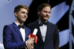 Xavier Dolan and Daniel Brühl Cannes 2014