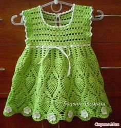 That delights Dress In Crochet Rose For Baby. I loved. share. - Crochet Designs Free