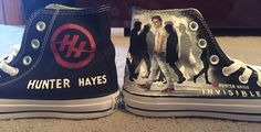 Hunter Hayes hand painted Converse sneakers anyone wanna make these for me plz? I'll love you forever!