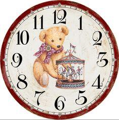 ru / Fotografie č. Clock Art, Diy Clock, Wall Clocks, Clock Face Printable, Printable Wall Art, Clock Template, Retro Alarm Clock, Love Bears All Things, Wall Watch