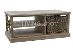 Landelijke salontafel J-line met mand bij LIVING-shop.eu J-LINE online webshop