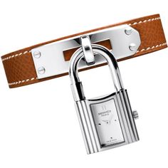 Hermès Kelly Pm (¥261,615) ❤ liked on Polyvore featuring jewelry, watches, accessories, white wrist watch, hermes jewelry, hermes watches, stainless steel wrist watch and stainless steel watches
