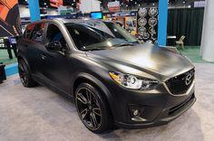 Matte black Mazda CX-5 at car show