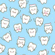 Vectores similares a 21077585 Cheerful seamless texture with cartoon teeth Cartoon Network Adventure Time, Adventure Time Anime, Baby Wrap Newborn, Dental World, Cute Tooth, Far Side Comics, Dental Art, Fairy Pictures, First Tooth