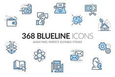 Ad: Blueline icons set by Davooda on Blueline is a bundle of 368 line vector icons. Simple, beautiful and modern set of icons. High quality pixel perfect icons designed to Business Illustration, Pencil Illustration, Creative Illustration, Business Brochure, Business Card Logo, Invitation, 3d Christmas, Best Icons, Clip Art