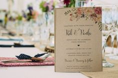 Invitation Floral Rustic Fun Laid Back DIY Rustic Marquee Wedding http://www.louisegriffinphotography.com/