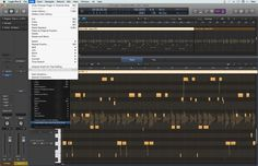 """Fig 1 The """"Create MIDI Track from Flex Pitch Data"""" command used on a Flex Pitch track"""