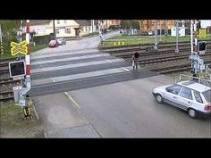 Here's Why You Shouldn't Cross The Train Tracks When The Gates Are Down - #fail #stupid #stunt