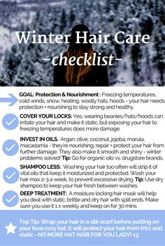 Maintaining healthy hair throughout the winter tips.