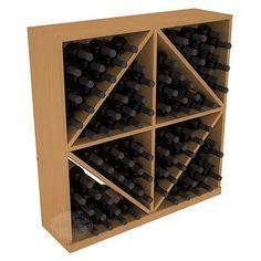 Handmade Wooden 96 Bottle Solid Diamond Wine Rack Bin in Ponderosa Pine. 13 Stain Combinations to Choose Wine Racks America, Wine Bottle Rack, Wine Bottles, Tabletop, Shelf Dividers, Solid Wood Flooring, Wine Case, Italian Wine, Wine Storage