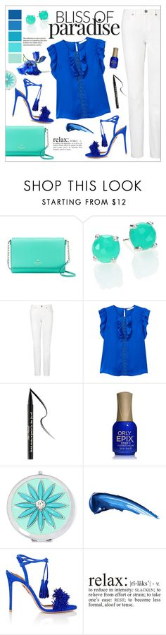 """Colors of Summer"" by ms-mandarinka ❤ liked on Polyvore featuring Kate Spade, Ippolita, Seed Design, L.K.Bennett, MANGO, Too Faced Cosmetics, Liz Claiborne and Aquazzura"