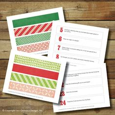 Less Ordinary Designs: FREE PRINTABLE: Customizable paper chain advent calendar