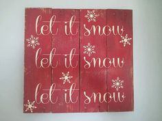 Vintage Pallet Wood Christmas Sign. Red let by TheCreativePallet, $37.00
