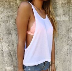 Neon Summer - Cute Bralette Outfits For When You Just Can't With A Real Bra - Photos