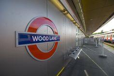Wood Lane tube station for London Underground.