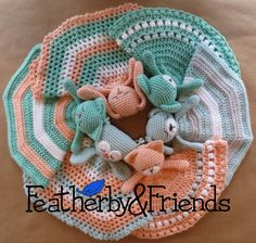 Mix & Match Lovies - A paid Lovey pattern that includes options for 6 animals & 3 different blankets