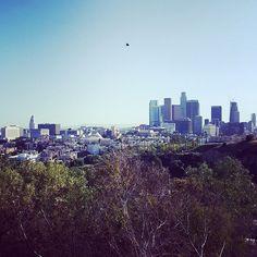 THINK BLUE: Dodger stadium has a pretty sweet view.  #losangeles #dodgers #dodgerstadium #la #latergram #insta #instapic #mlb #baseball #skyline #instagramhub by kookslamkyle