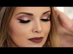 Maquiagem brilhante e fácil - YouTube