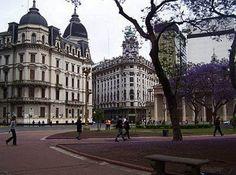 sombras en Plaza De Mayo Buenos Aires