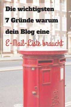 Die wichtigsten 7 Gründe warum dein Blog eine E-Mail-Liste braucht: http://bloggenfuerschlauefrauen.de/e-mail-liste/