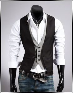 Two Piece Waistcoat This item exclusively for men is a two piece waistcoat which is made out of materials cotton and polyester. The best and the softest fabric of broadcloth is used to stitch this two