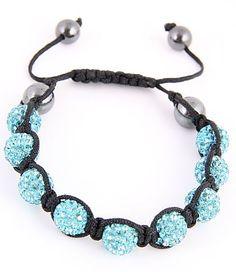 Shambala Blue Bracelet, I have this one & I love it! Cute Bracelets, Metal Bracelets, Adjustable Bracelet, Turquoise Necklace, Aqua, Jewelry Making, Beads, Pretty, Auction