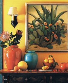 cacti and pots.      Love this visual vignette.