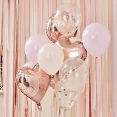 How gorgeous are these pink and gold hen party balloons?! They come with a mix of blush, pink and confetti balloons. Perfect for stylish hen party fun.