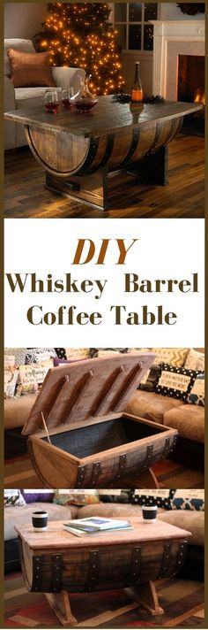 How To Build A Whiskey Barrel Coffee Table http://vid.staged.com/67Ws