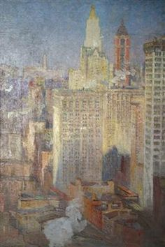 The City Colin Campbell Cooper Oil On Canvas Art In Embassies