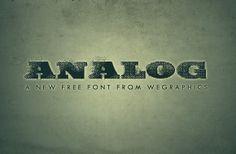 Analog #font | http://wegraphics.net/downloads/analog-a-free-grunge-font-from-wegraphics/