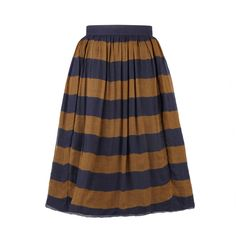 Burberry Striped Cotton and Silk Skirt found on Polyvore